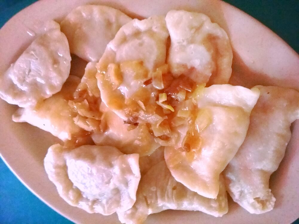 A plateful of pierogi at Pyza c/o Ona Abelis
