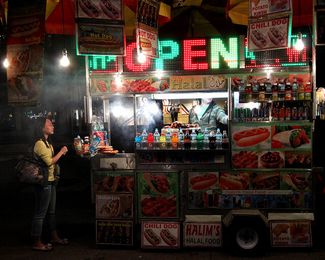 NYC halal truck. Photo: Prayitno/Flickr Creative Commons