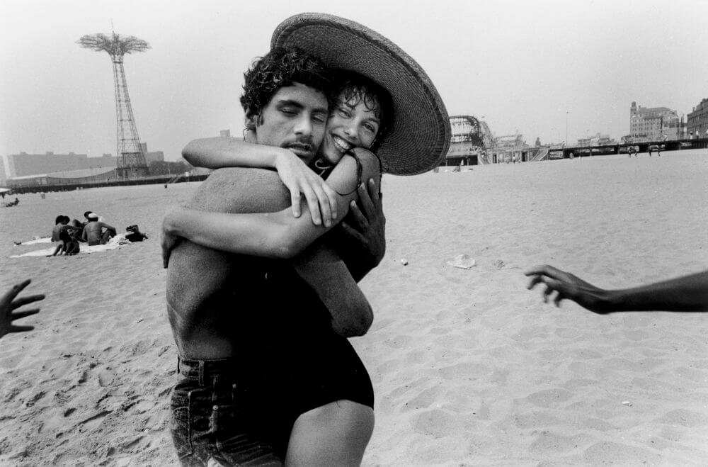 Harvey Stein (American, born 1941). The Hug: Closed Eyes and Smile, 1982. Digital, inkjet archival print, 13 x 19 in. (33 x 48.3 cm). Collection of the artist. © Harvey Stein, 2011