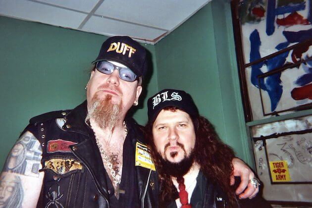 Duff and the late Dimebag Darrell in 2004.  Courtesy of J. Duff.