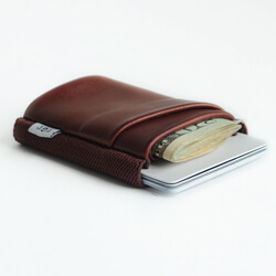 20 oxblood wallet