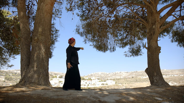 Daniella Weiss in a scene from the documentary The Settlers, directed by Shimon Dotan. Image courtesy of Philippe Bellaiche.